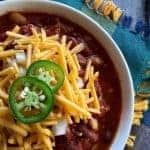Spicy Slow Cooker Chili   kimschob.com