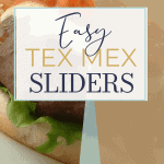 Easy Tex Mex Sliders   kimschob.com