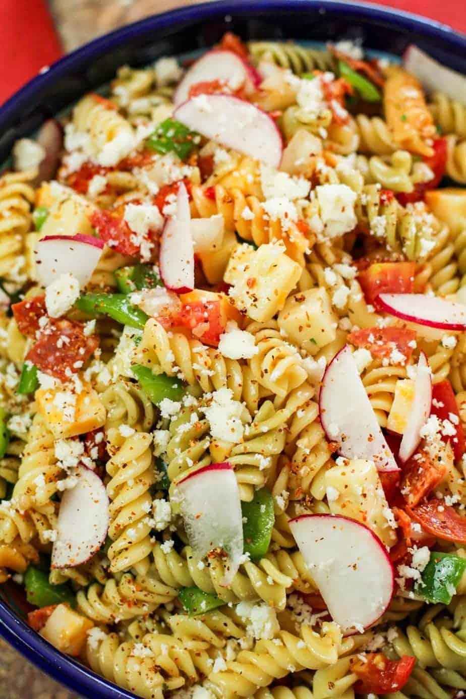 Spicy Pasta Salad 3 of 10 • Kim Schob