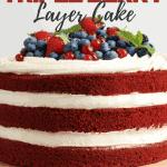 Light and Fresh Triple Berry Layer Cake   kimschob.com