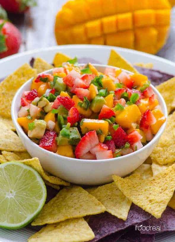 strawberry mango salsa recipe • Kim Schob