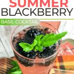 Sparkling Summer Blackberry Basil Cocktail   kimschob.com