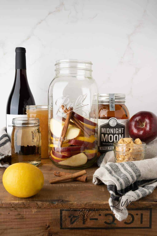Apple Shine Sangria Ingredients 2 • Kim Schob