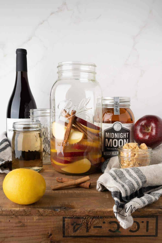 Apple Shine Sangria Ingredients 3 • Kim Schob