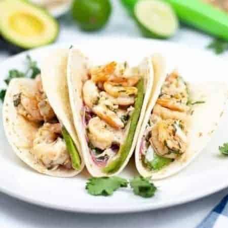 Sheet Pan Cilantro Lime Shrimp Tacos   kimschob.com