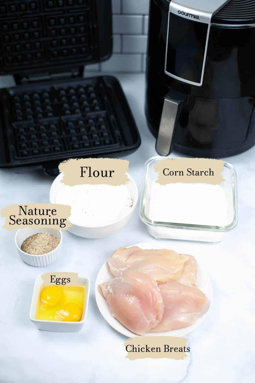 Air Fryer Chicken and Waffles | kimschob.com