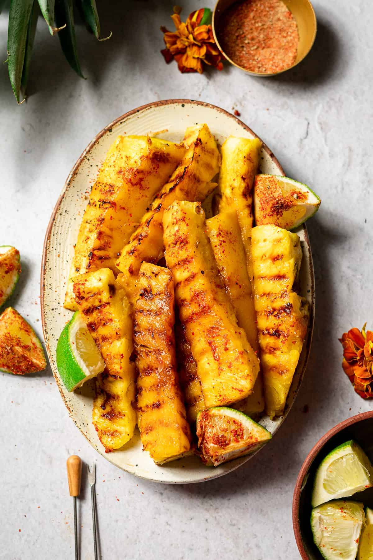 Copy of Chili Lime Grilled Pineapple Spears • Kim Schob