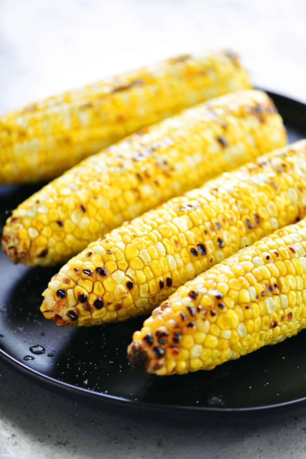 Copy of Grilled Corn On The Cob Peeled • Kim Schob