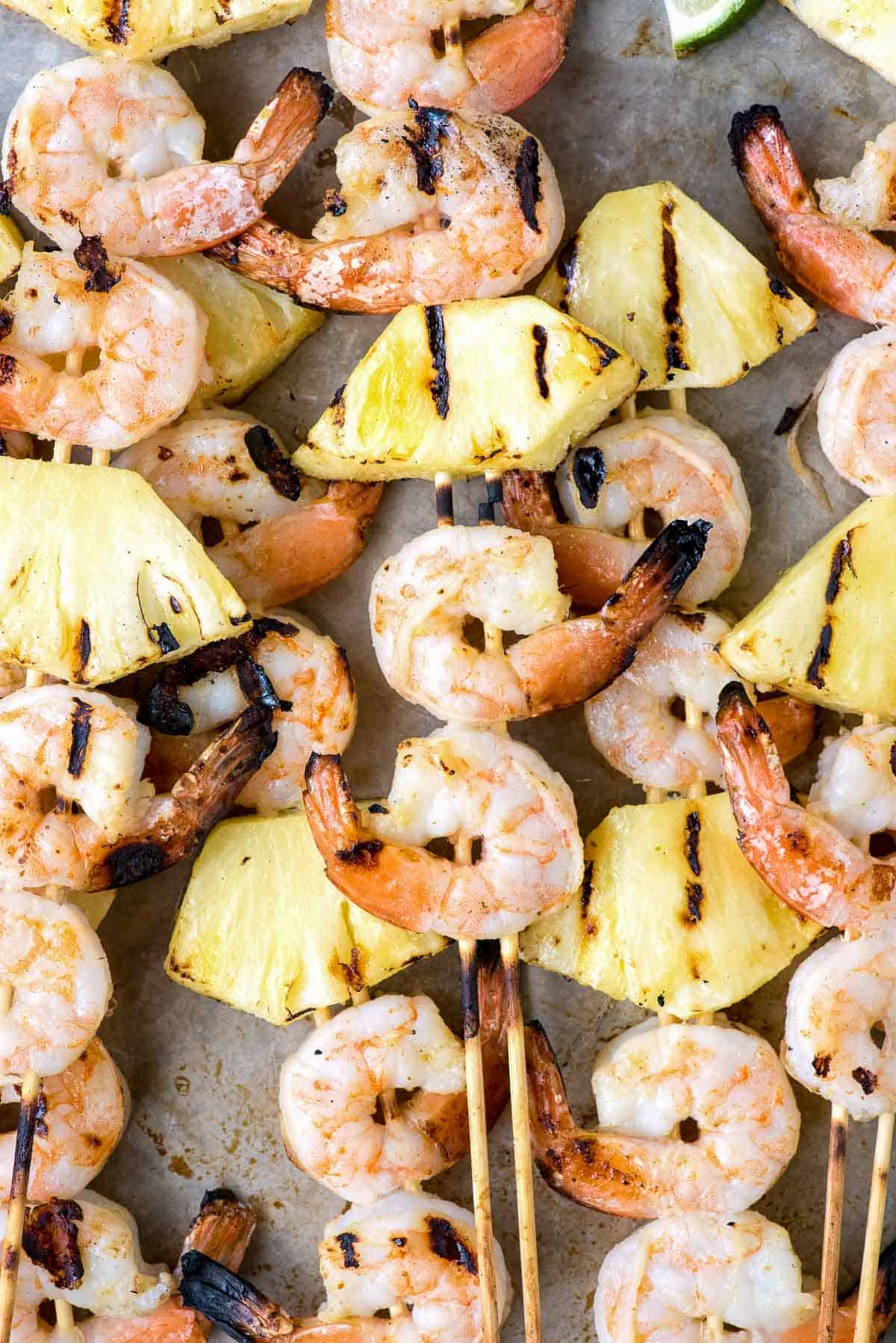 Copy of grill with shrimp skewerswith pineapple BoulderLocavore.com • Kim Schob