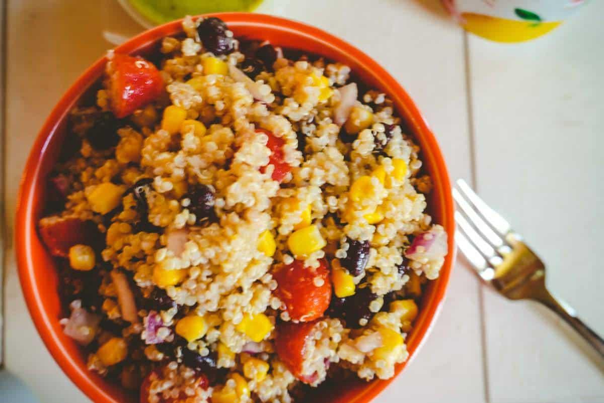 Copy of southwest quinoa salad overheadJPG • Kim Schob