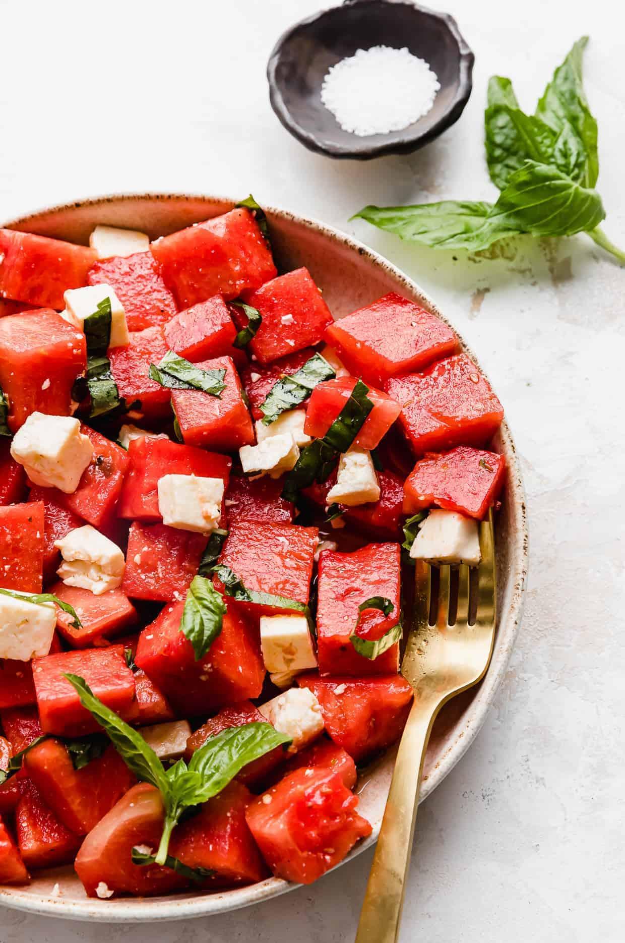 Watermelon Feta Basil Salad 1 • Kim Schob