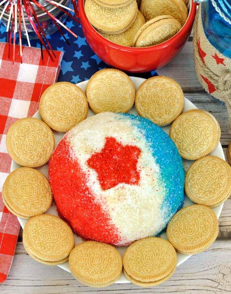 red white blue oreo cheese ball recipe • Kim Schob