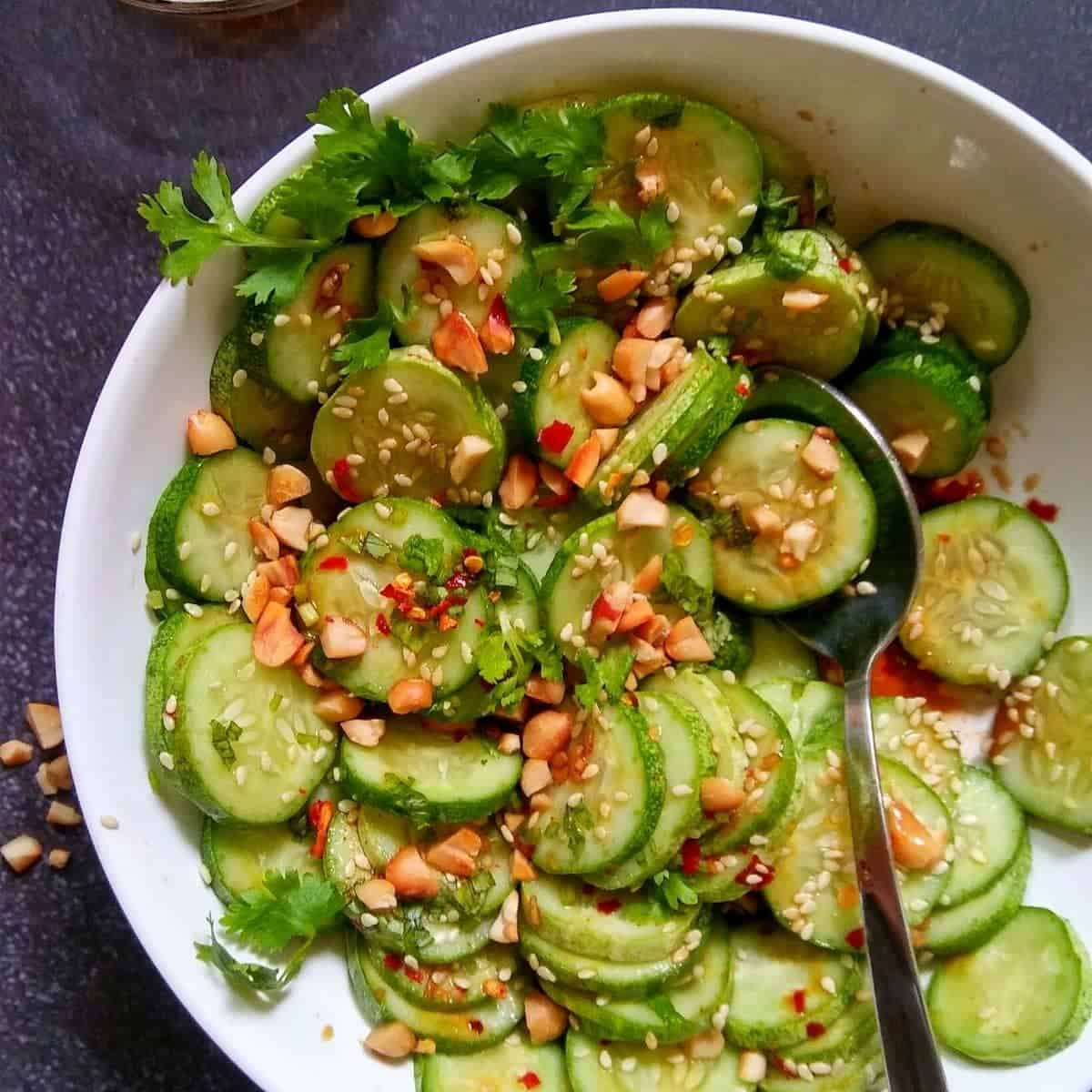 Asian Cucumber Salad • Kim Schob