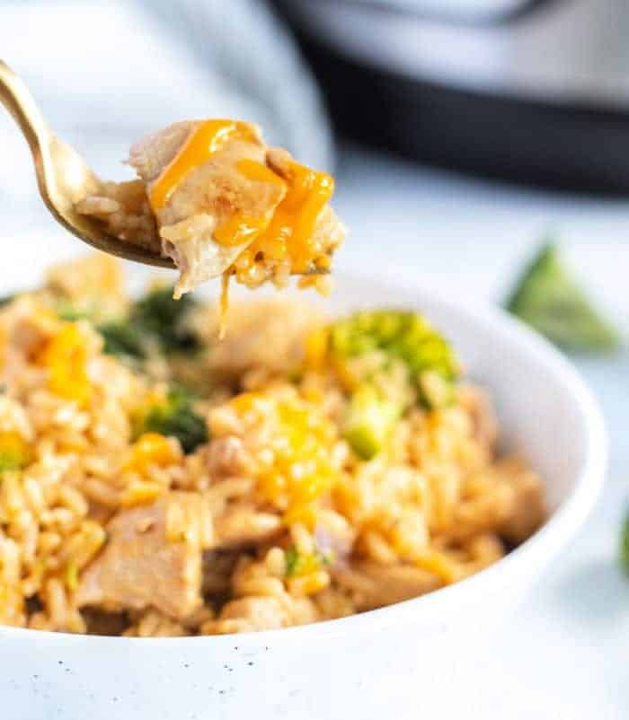 Cheesy Chicken and Rice • Kim Schob