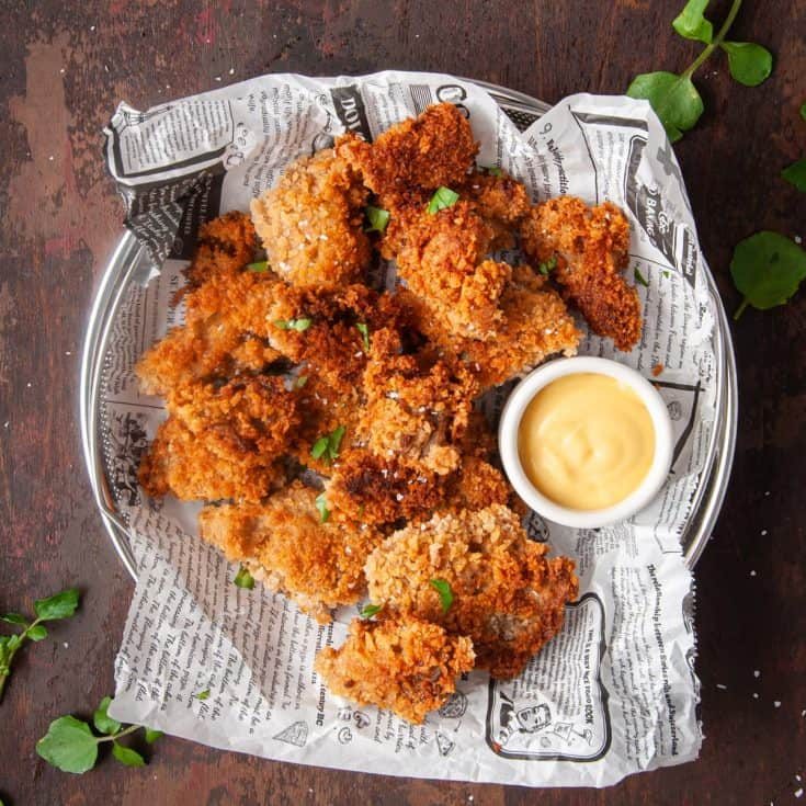 Fried Oyster Mushrooms Featured Image • Kim Schob