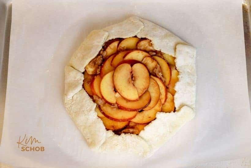Peach Galette   kimschob.com