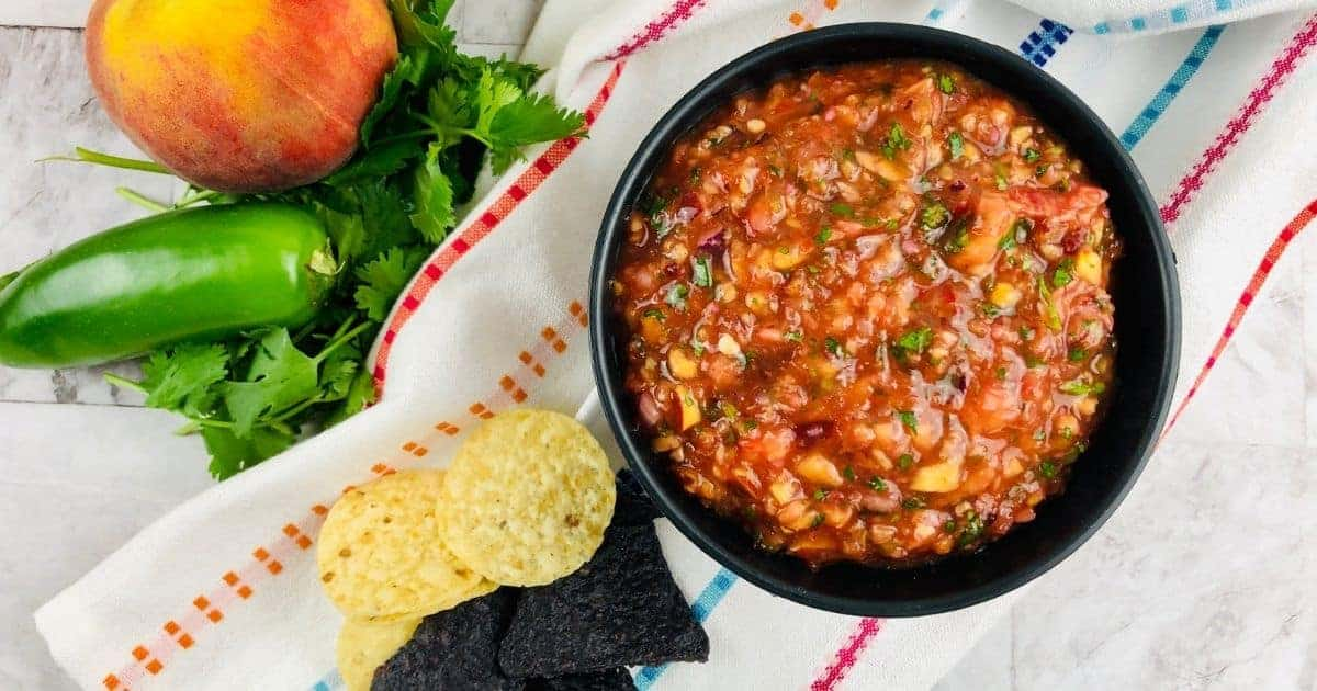 Fresh peach salsa without any tomatoes