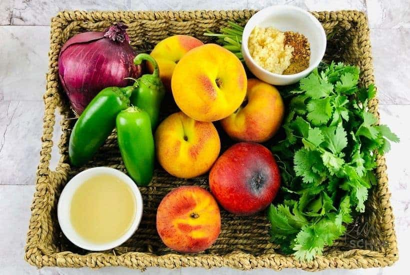 ingredients for jalapeno peach salsa without tomatoes