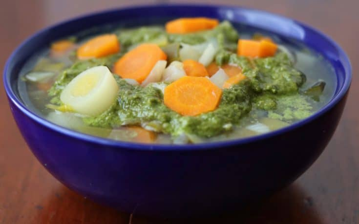 Pistou vegetable soup • Kim Schob