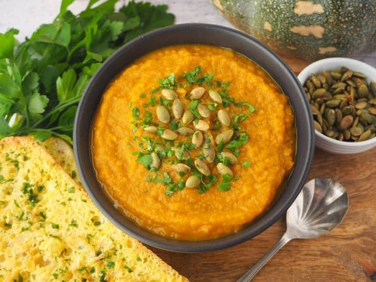Pumpkin and sweet potato soup hero 06 • Kim Schob