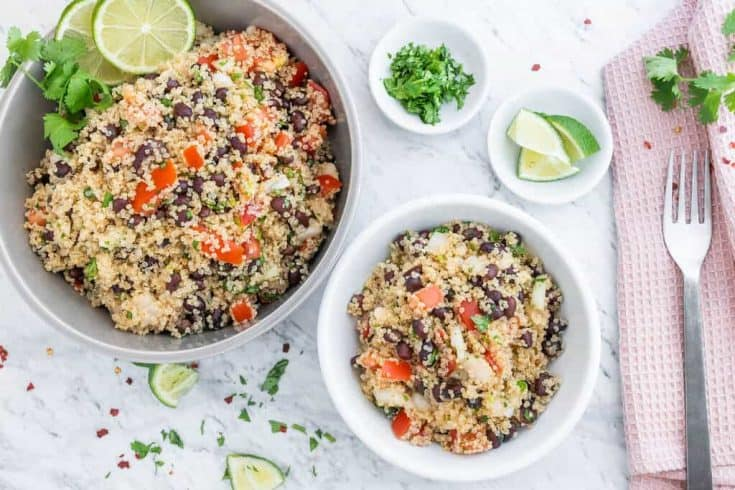 Quinoa Black Bean Salad Recipe • Kim Schob