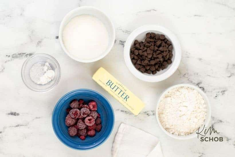 Raspberry Chocolate Chip Cookies ingredients • Kim Schob