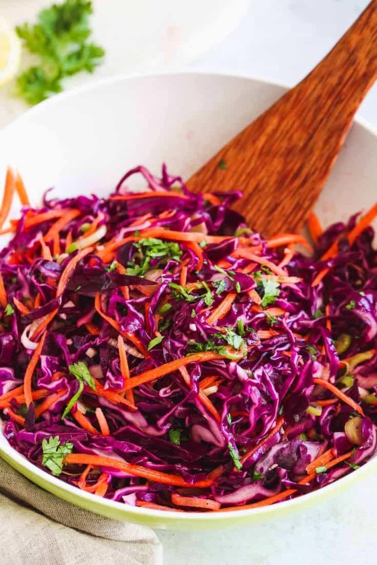 Red cabbage slaw 4 • Kim Schob