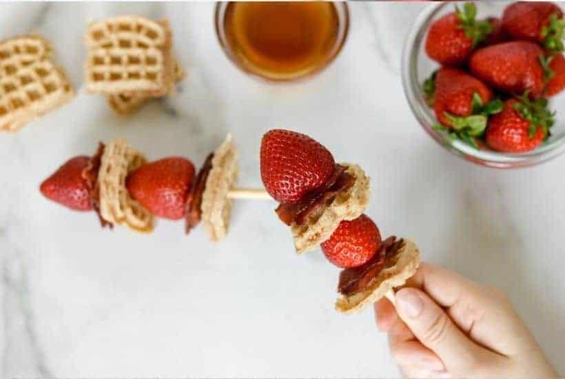 Waffle skewers In process 3 • Kim Schob