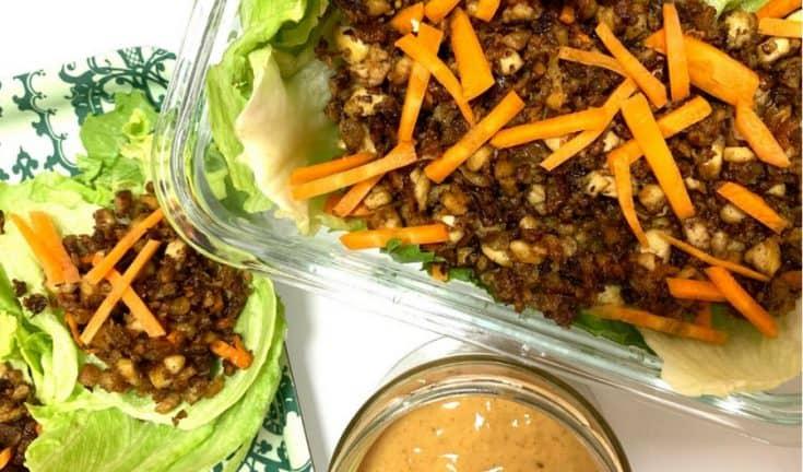 crispy tofu with lettuce • Kim Schob