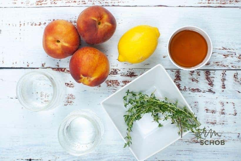 peach gin fizz Ingredients • Kim Schob
