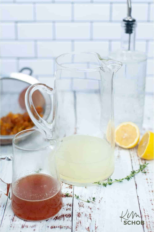 peach gin fizz in process 4 • Kim Schob