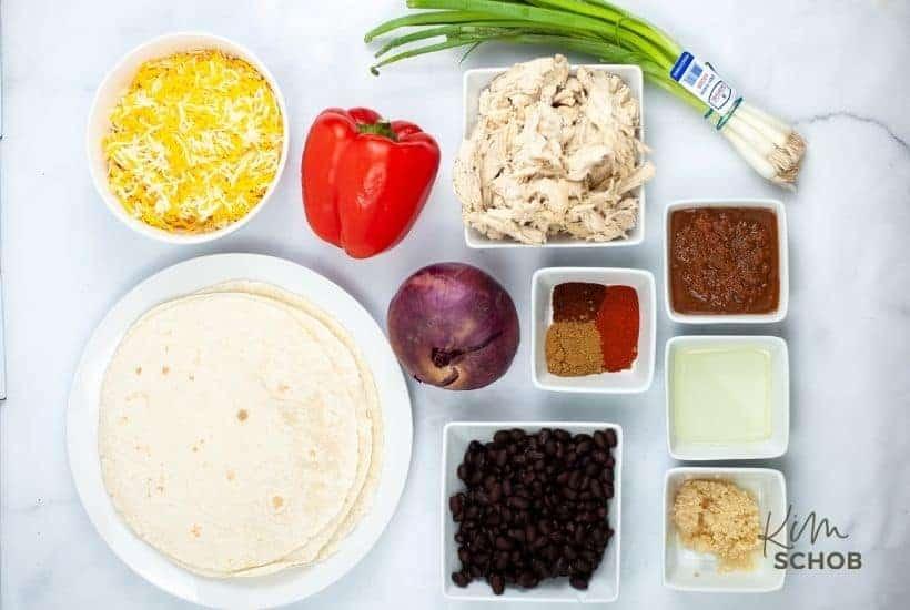 sheet pan chicken quesadilla Ingredients • Kim Schob