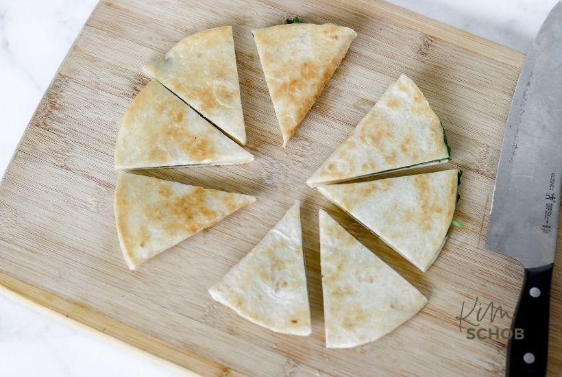 spinach pizzadilla in process 4 • Kim Schob