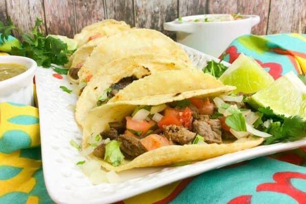 steak taco recipe for the instant pot • Kim Schob