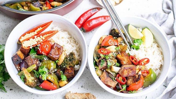 vegan kung pao with tofu vegetables cashews bella bucchiotti 7 • Kim Schob