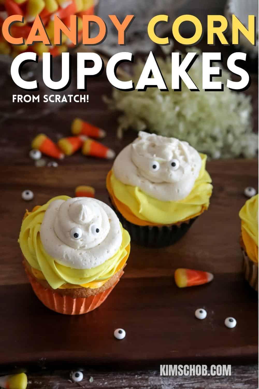 Candy Corn Cupcakes   kimschob.com