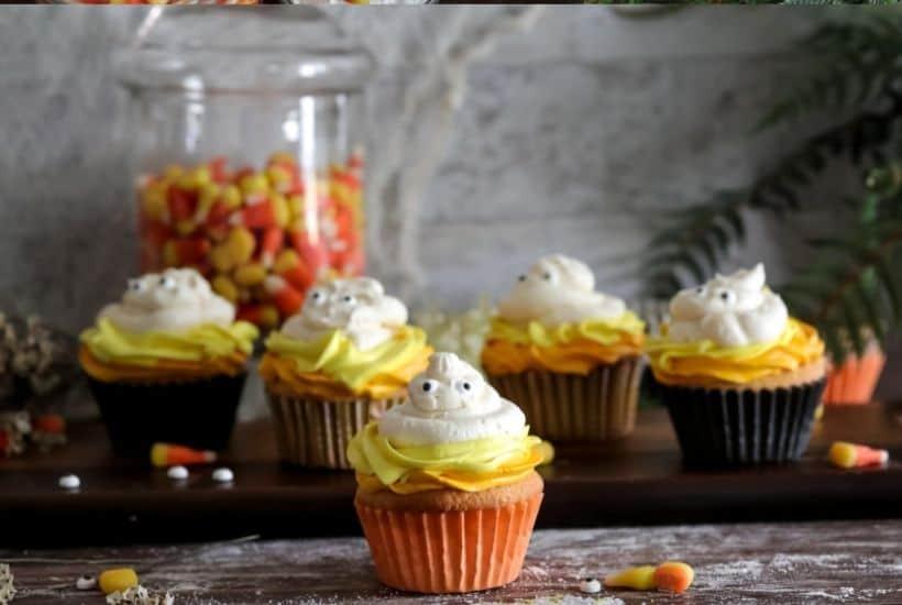 Candy Corn Cupcakes in process7 • Kim Schob