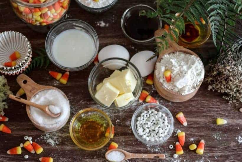 Candy Corn Cupcakes ingredients • Kim Schob