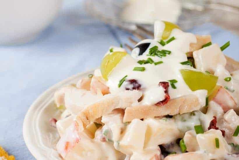 Delicious Easter Chicken Salad With Fruit   kimschob.com