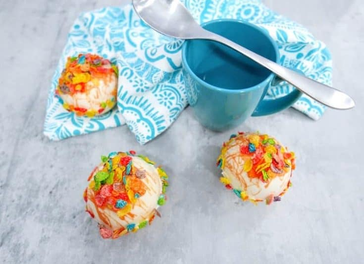 Fruity Pebbles Hot Cocoa Bombs 1 • Kim Schob