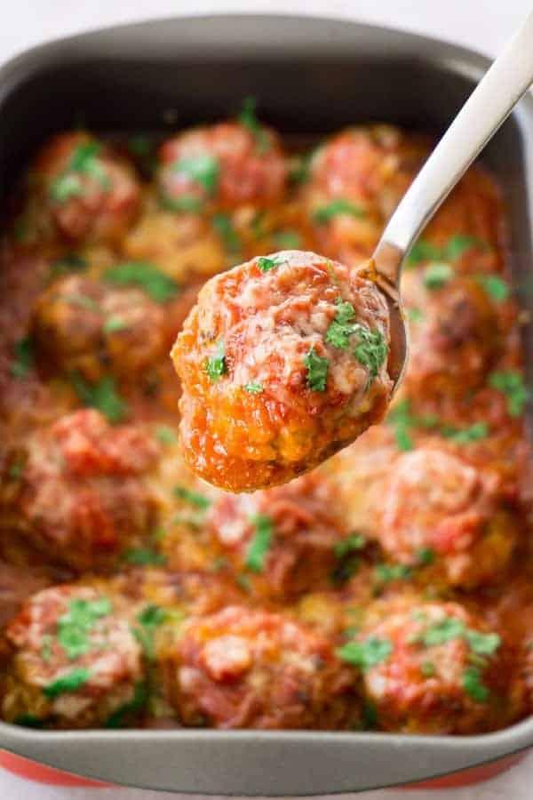 Healthy keto turkey meatballs 2 • Kim Schob