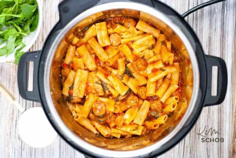 Instant Pot Sausage Rigatoni in process 4 • Kim Schob