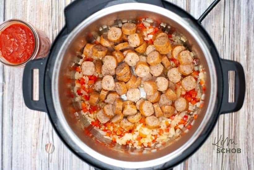 Instant Pot Sausage Rigatoni in process • Kim Schob