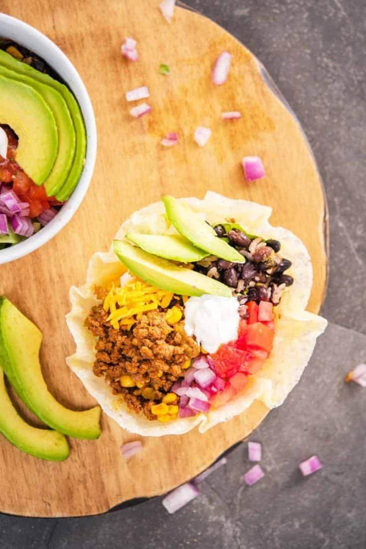 Keto Taco Bowl FI • Kim Schob