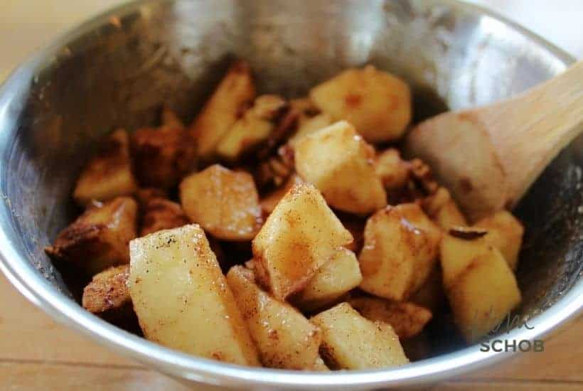 Maple Pecan Apple Cobbler in process 3 • Kim Schob