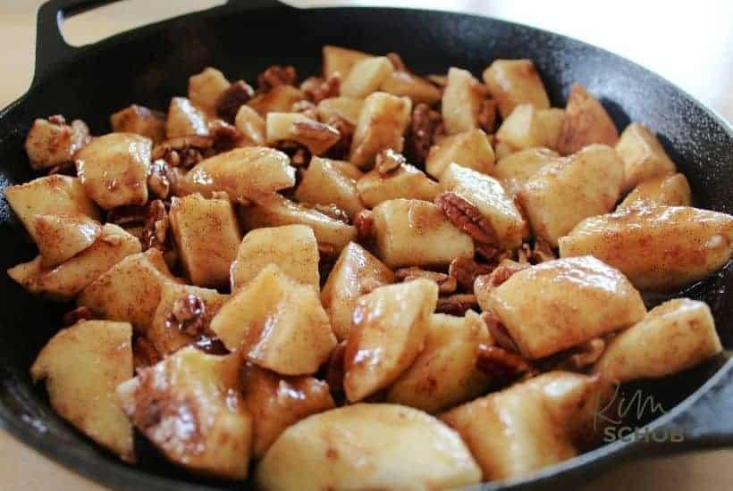 Maple Pecan Apple Cobbler in process 4 • Kim Schob