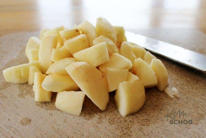 Maple Pecan Apple Cobbler in process • Kim Schob