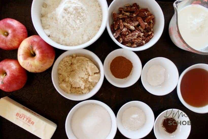 Maple Pecan Apple Cobbler ingredients • Kim Schob