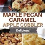 Maple Pecan Caramel Apple Cobbler | kimschob.com