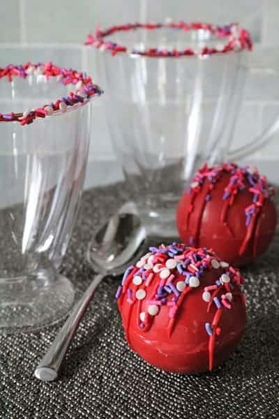 Red Velvet Hot Chocolate Bombs 1 • Kim Schob